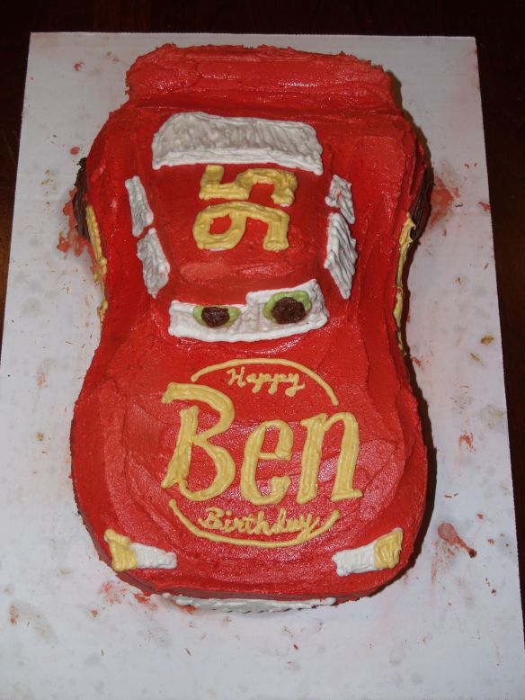 Awesome Happy Birthday Ca Chow Lightning Mcqueen Style Personalised Birthday Cards Paralily Jamesorg